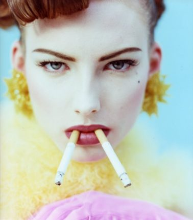 2 Sigarette (2 Cigarettes), Lambda Print on D-Bond, 24x24cm, 1994