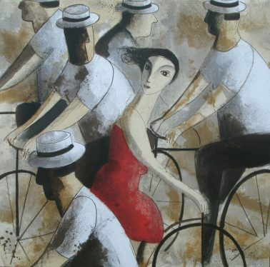 Bicicletas, by Didier Lourenco (Spain), 73x73cm