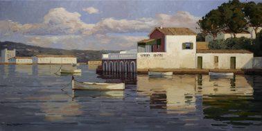 Casa sobre el mar, by Kiku Poch, 130x65cm