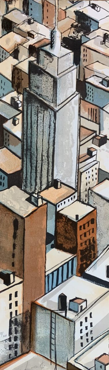 Chicago, by Didier Lourenco (Spain), Limited edition of lithography, 29x96cm, HKD6000