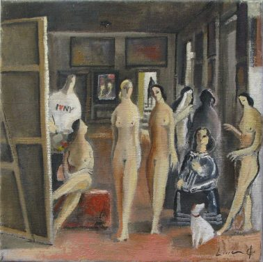 Divertimento Velazquez - Meninas, by Didier Lourenco (Spain), Oil on canvas, 30x30cm, HKD12000
