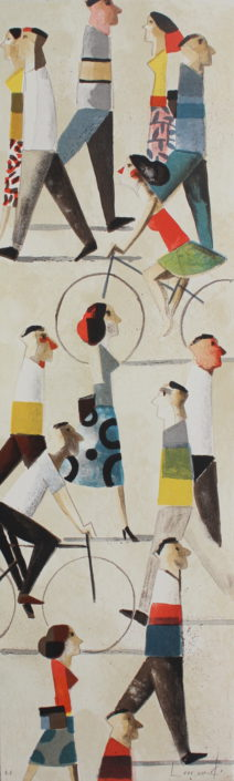 Donde vas, by Didier Lourenco (Spain), LImited edition Lthography 73x22cm, HKD42000