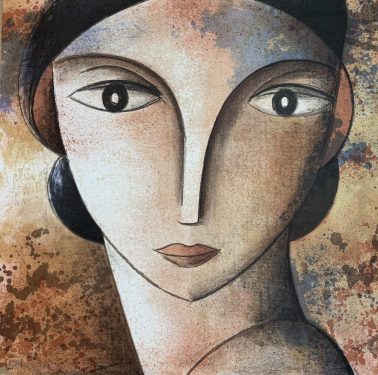Face, by Didier Lourenco (Spain), Limited edition of lithography, 73x73cm, HKD8800