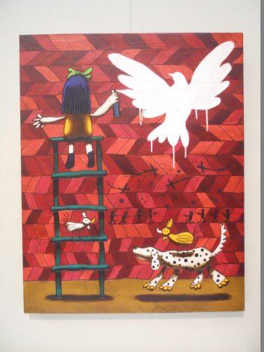 Graffiti, by Daniel Romero (Mexico), Mixed media on canvas,  50x80cm, HKD22000