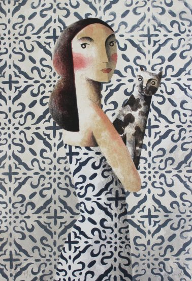 Invisible, by Didier Lourenco (Spain), Limited edition of lithography, 87x60cm, HKD8000