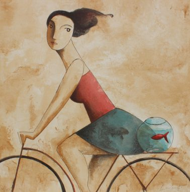La pecera, by Didier Lourenco (Spain), Limited edition of lithography, 72x72cm, HKD6000