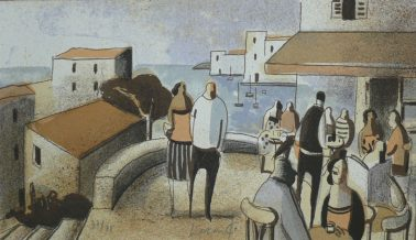 Mediterrani, by Didier Lourenco (Spain), Limited edition of lithography, 16 x28cm, HKD6000