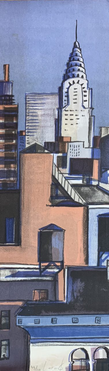 NYC, by Didier Lourenco (Spain), Limited edition of lithography, 29x96cm, HKD6000
