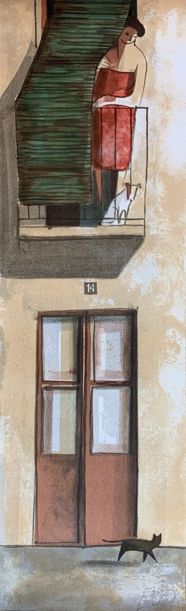 No 14, by Didier Lourenco (Spain), Limited edition of lithography, 29x96cm, HKD6000