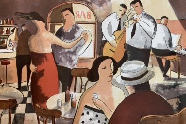 Shall we dance, by Didier Lourenco (Spain), Limited edition of lithography, 54x76cm, HKD6000