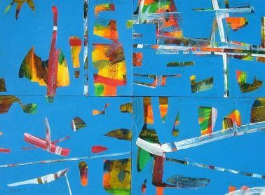 Sound of ocean, by Blair McNamara, a set of 4pcs, arcylic on cardboard, each 20x30cm, HKD8000