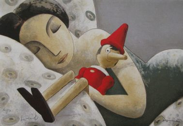 True love, by Didier Lourenco (Spain), Limited edition of lithography, 52x76cm, HKD9000