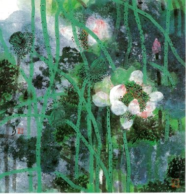 Verdant Summer, by Lam Tian Xing, 70x70cm, ink on paper, HKD68000