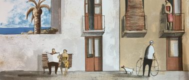 Visit her, by Didier Lourenco (Spain), Limited edition of lithography, 92x42cm, HKD6000