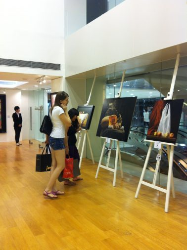 Photography by a Paintbrush exhibition at Gallery by the Harbour, 2013